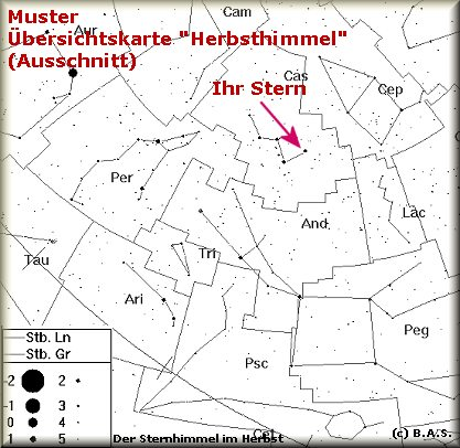 Sternkarte Sternentaufe