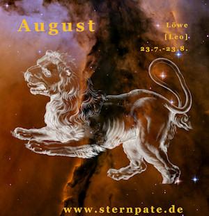 Sternzeichen Löwe, Tierkreiszeichen Löwe, Sternbild Löwe zur Sterntaufe wählen