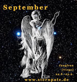 Sternzeichen Jungfrau, Tierkreiszeichen Jungfrau, Sternbild Virgo, Sterntaufe