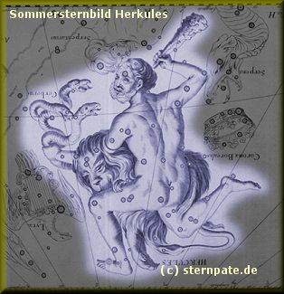 Sternbild Herkules Sommerhimmel