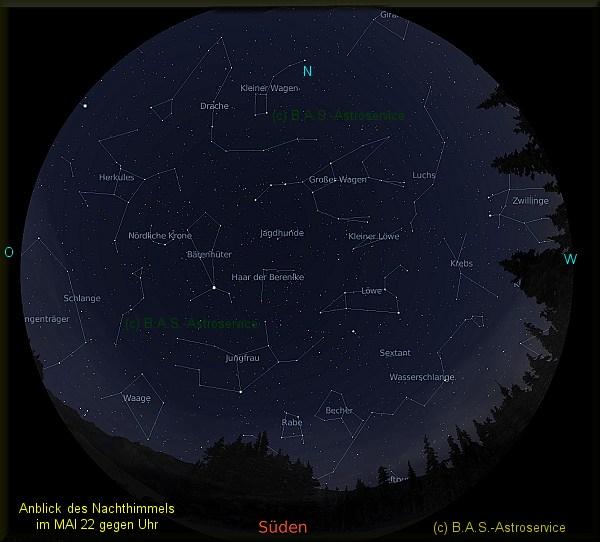 Sternzeichen Löwe Sternbild Löwe Sterntaufe am Himmel