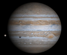 Planet Jupiter mit Mond
