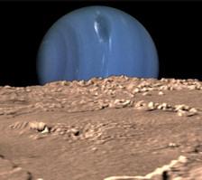 Neptun mit Mond triton