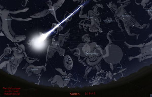 Sternschnuppe Meteorit