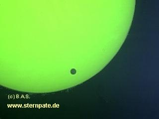 Venus vor der Sonne. Sonnenfinsternis