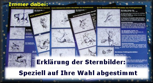 Erklärung der Sternbilder zur Sterntaufe