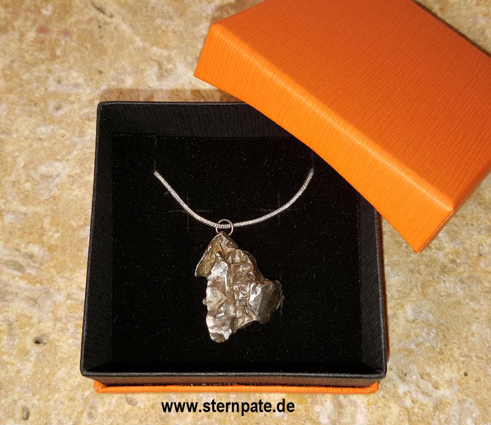 Meteoritenkette_Silberkette-Meteoritenschmuck