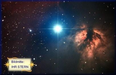Ihr Sternfoto zur Sternentaufe